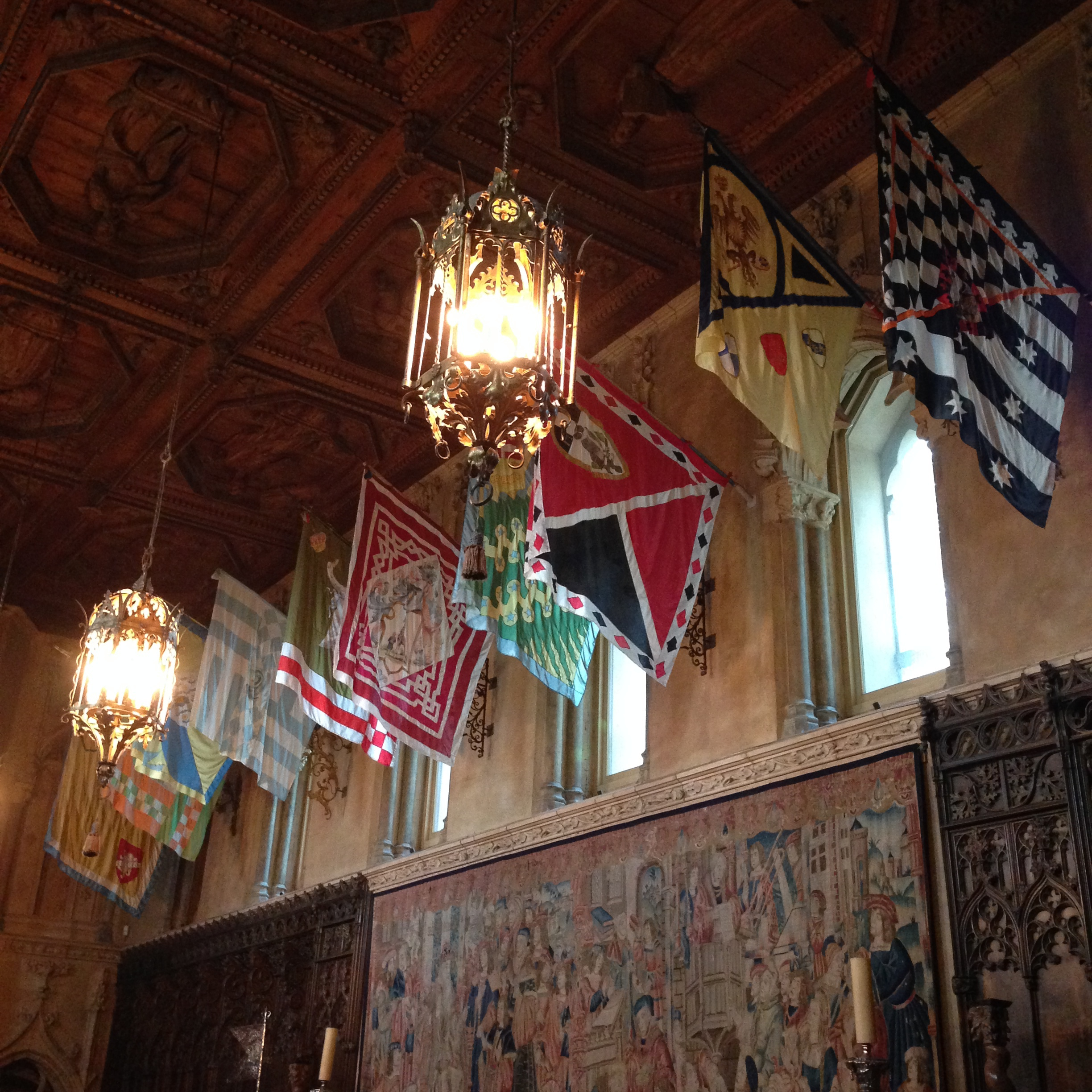 They styled the ballroom of Hogwarts in the Harry Potter films based on this room.