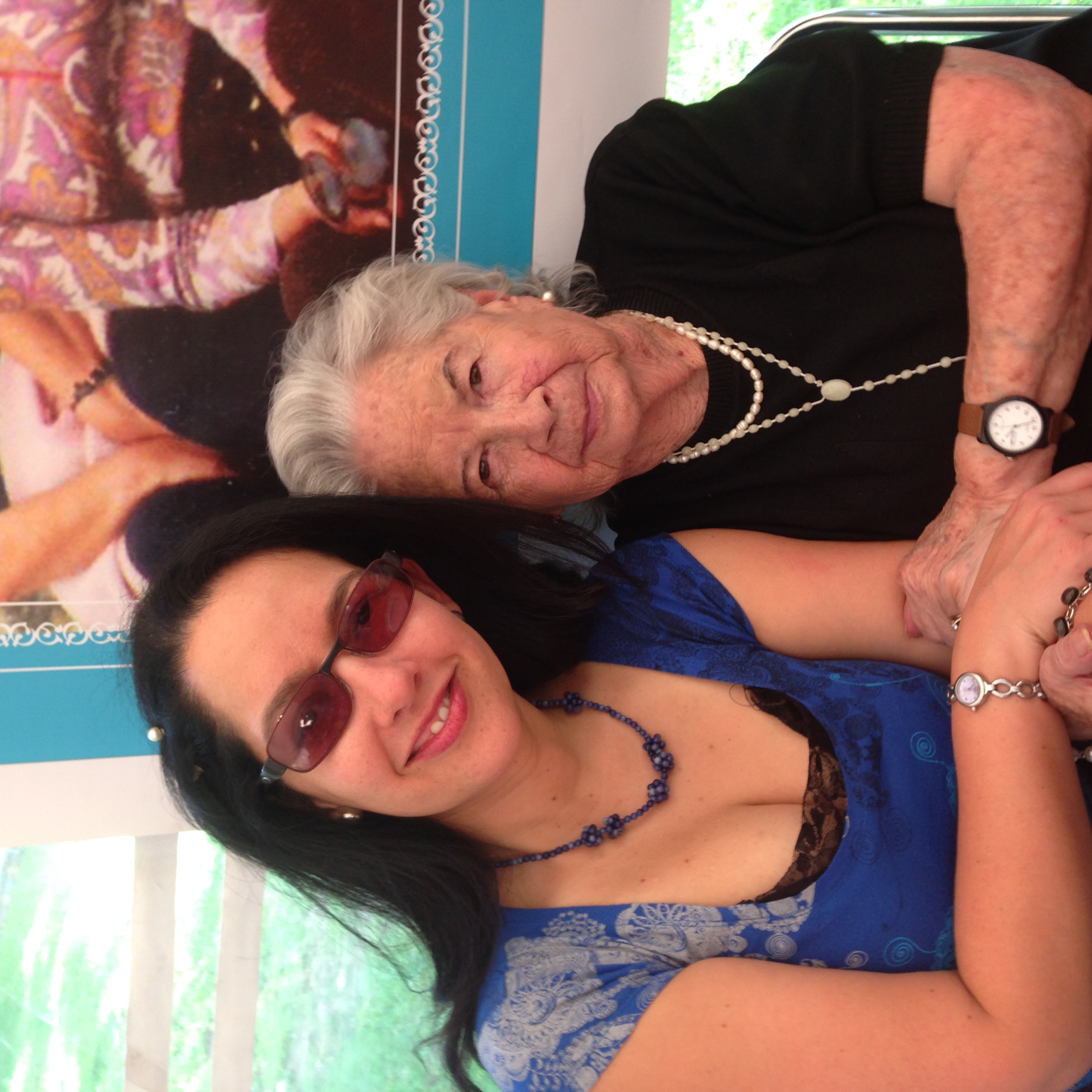 My cousin Maria Amelia and great aunt through marriage, Fabi.