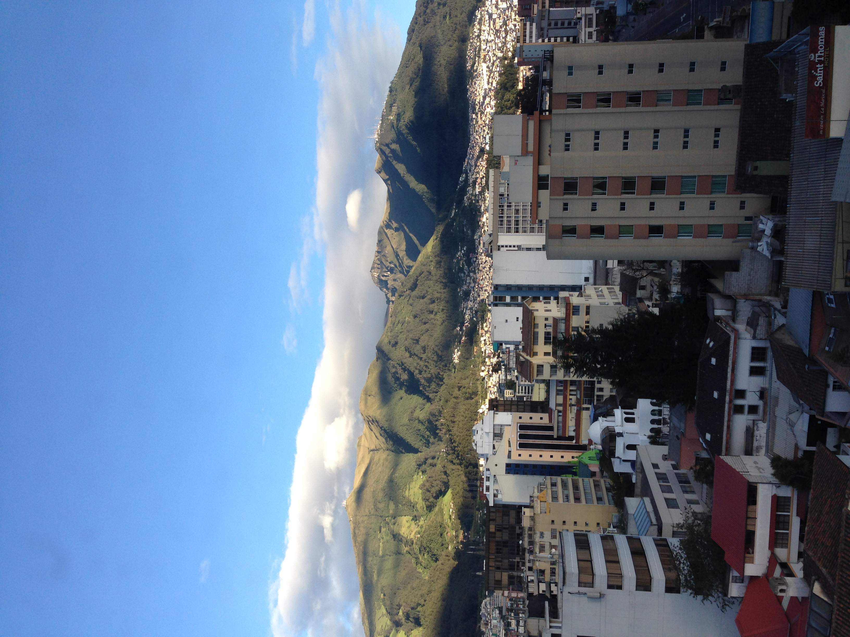 Woke up to a beautiful day in Quito and set out on the road to Otavalo.