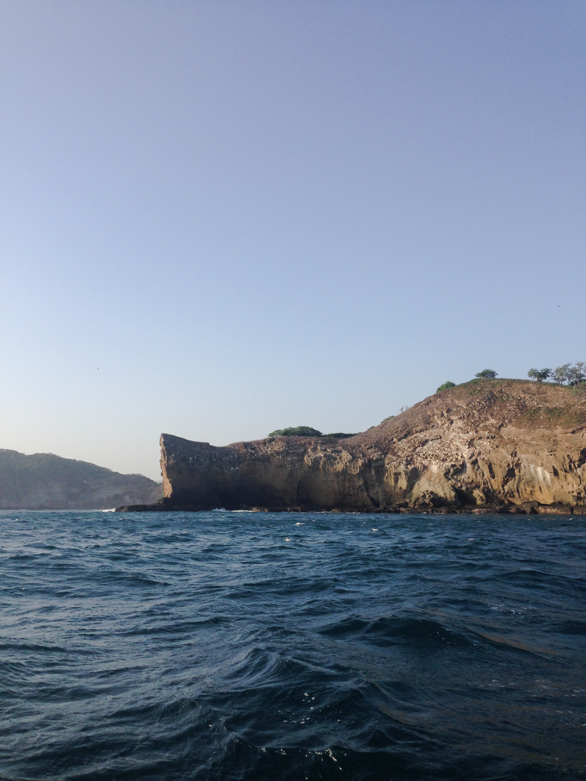 There were cliffs and little islands everywhere