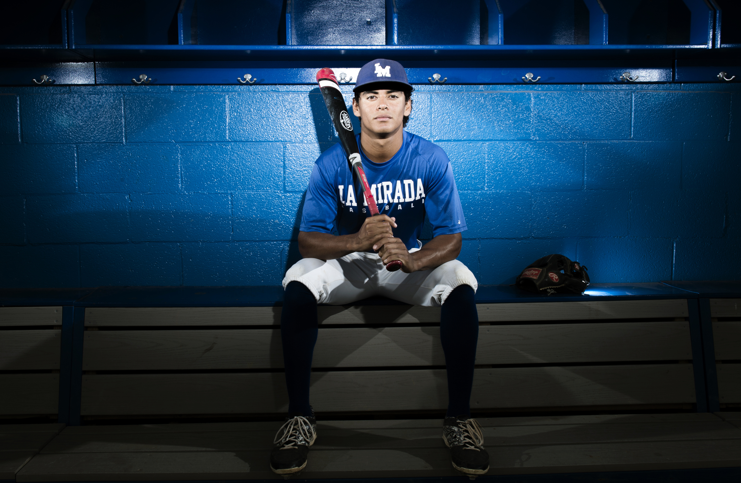 University of Hawaii bound Ethan Lopez is La Mirada captain and one of area's top players in La Mirada, CA. Thursday May 12, 2015.