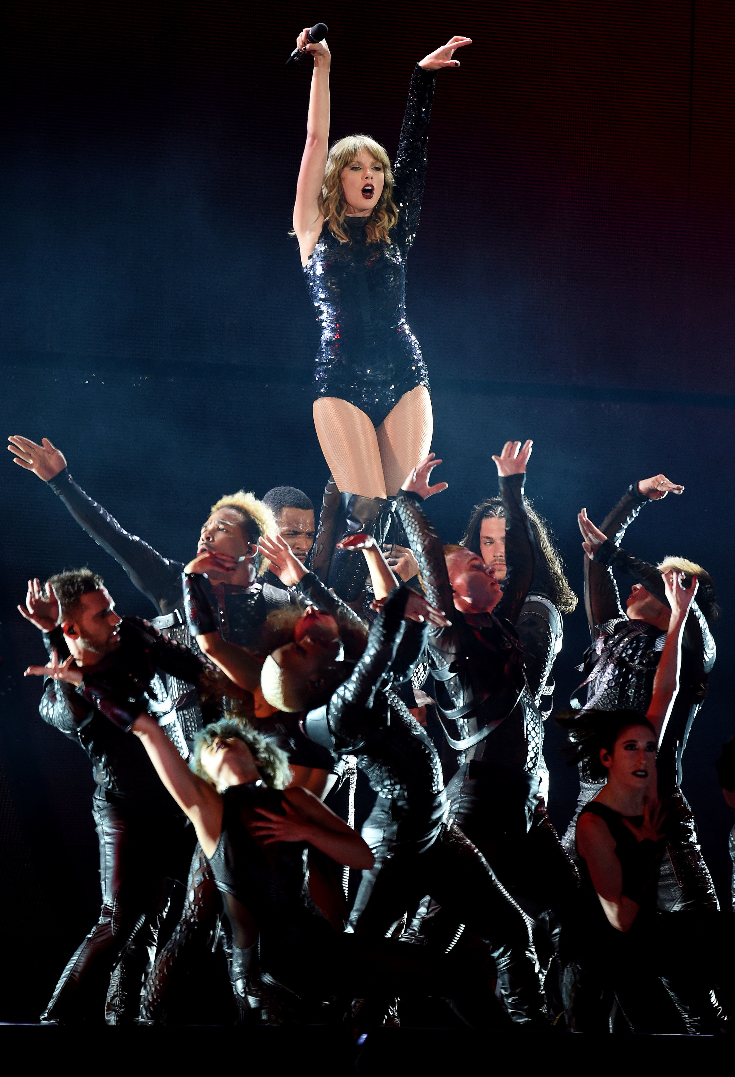 Taylor Swift performs before approximately 60,000 fans during her Reputation Stadium Tour Friday night May 18, 2018 at the Rose Bowl in Pasadena, Calif. It was the first of two Swift shows at the stadium. Camila Cabelo and Charli XCX also performed.