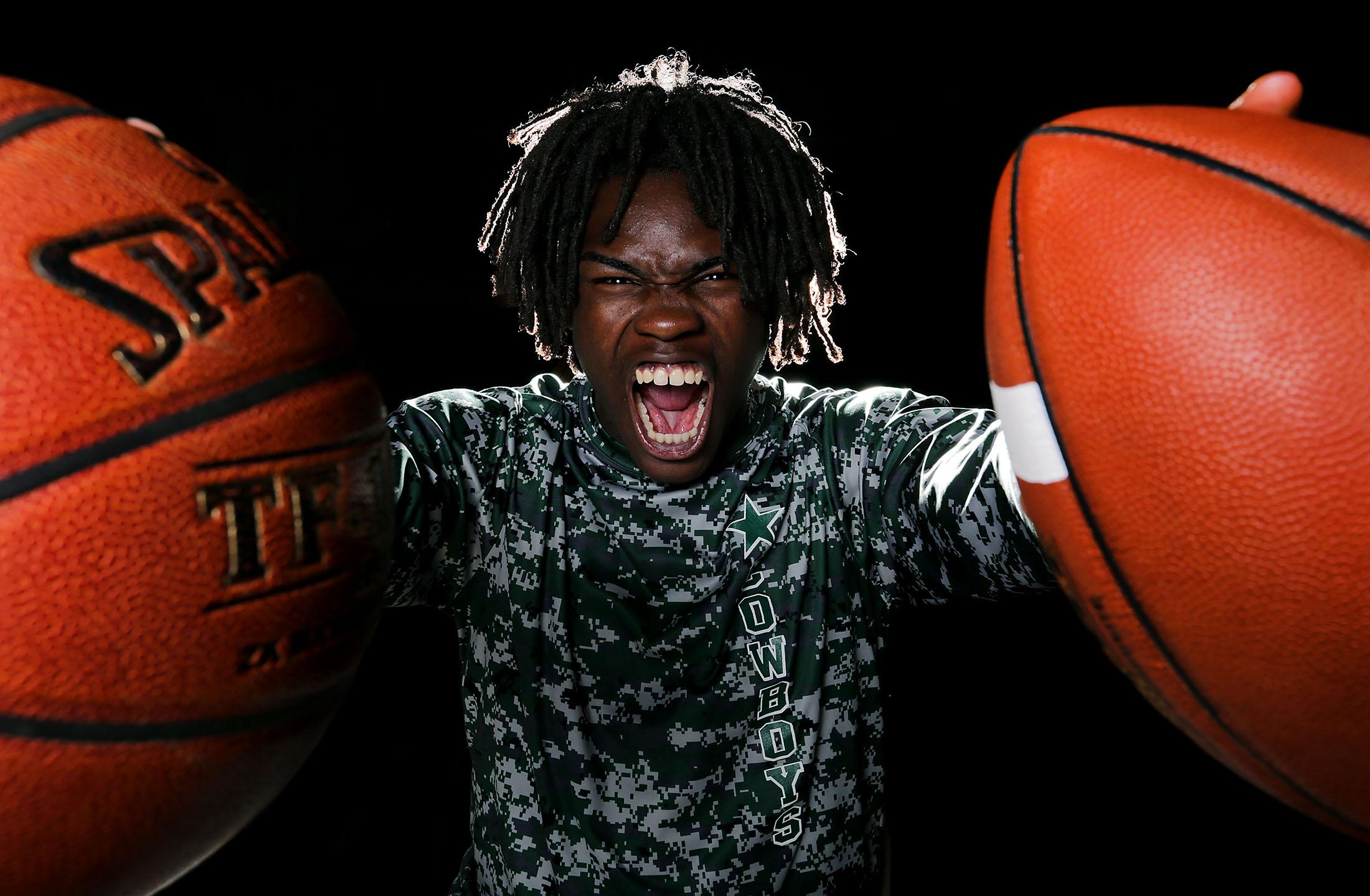 Cajon football and basketball star Jeremiah Martin has been chosen the HSGameTime large schools boys athlete of the yea Monday in San Bernardino, Calif. May 21, 2018.