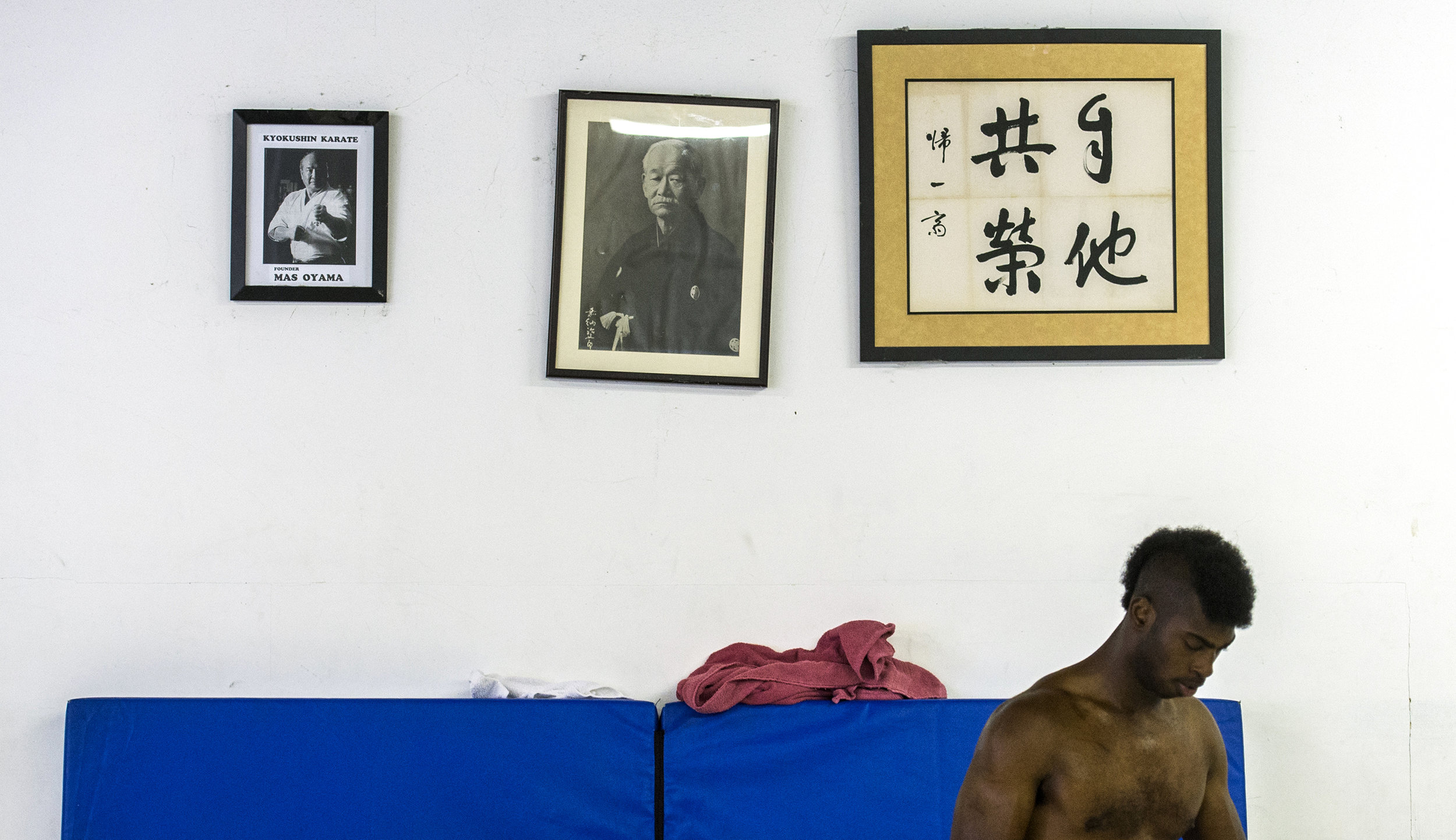 Compton native Phillip Barnes also known as Monster, prepares for a sumo wrestling practice in Carson Saturday, May 5, 2018. Monster will be entering his second sumo competition at the US Sumo Open.