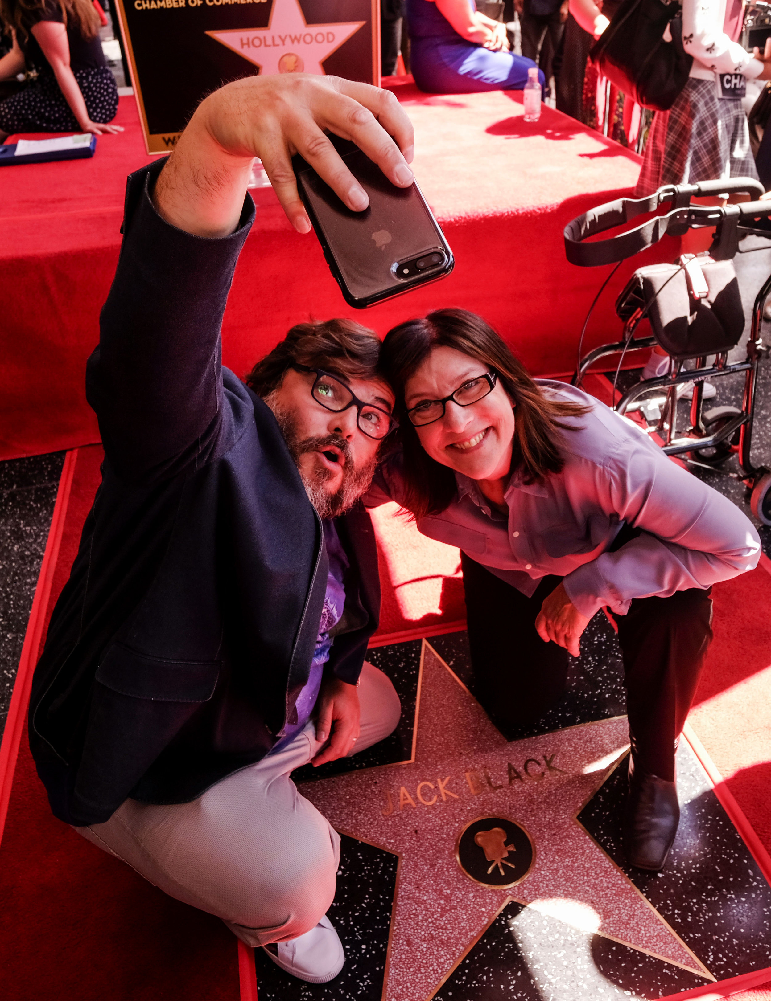 Actor Jack Black attends his star ceremony on the Hollywood Walk of Fame Star where he was the recipient of the 2,645th star on the Hollywood Walk of Fame in the category of Motion Pictures on September 18, 2018 in Los Angeles.