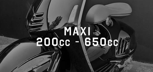 Maxi 200cc - 650cc