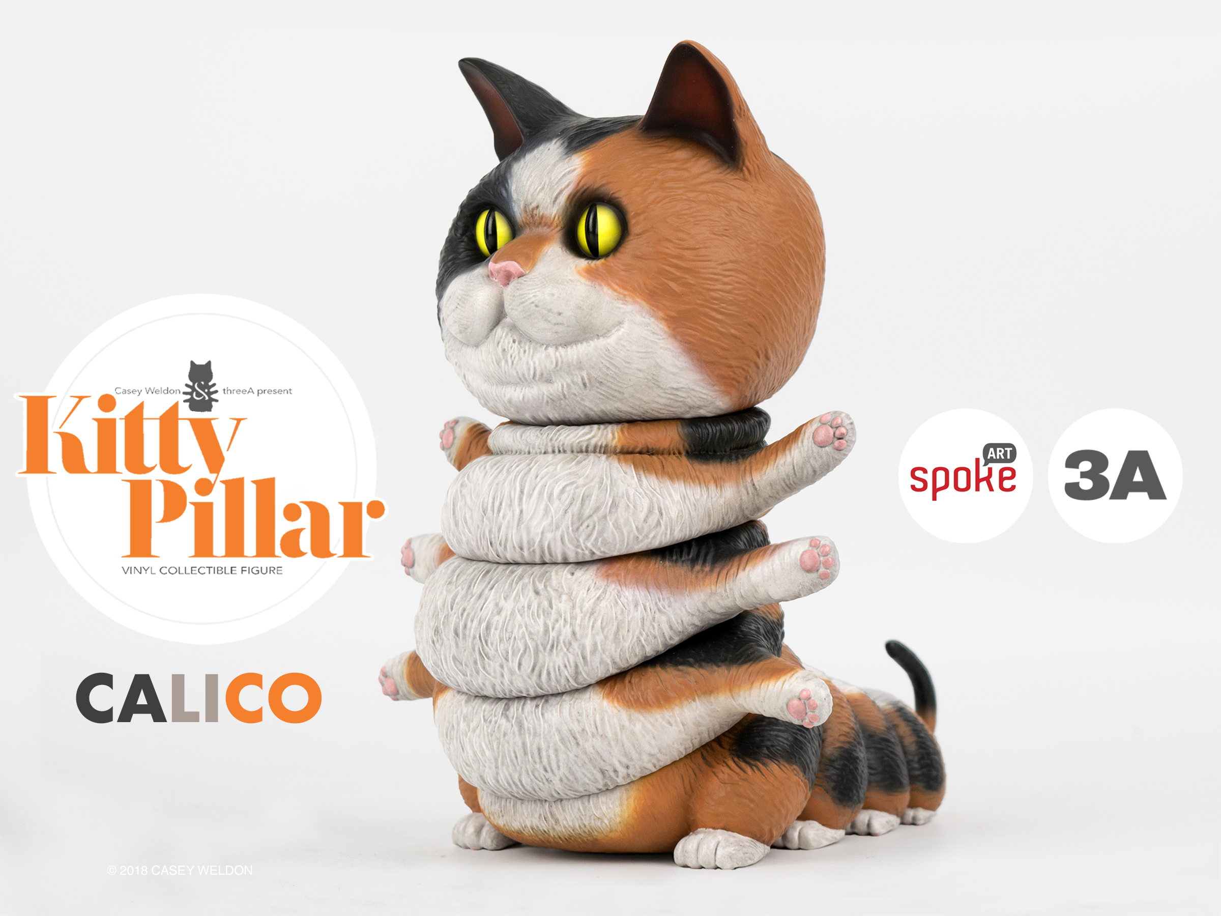 Calico Kittypillar now available at Spoke Art!