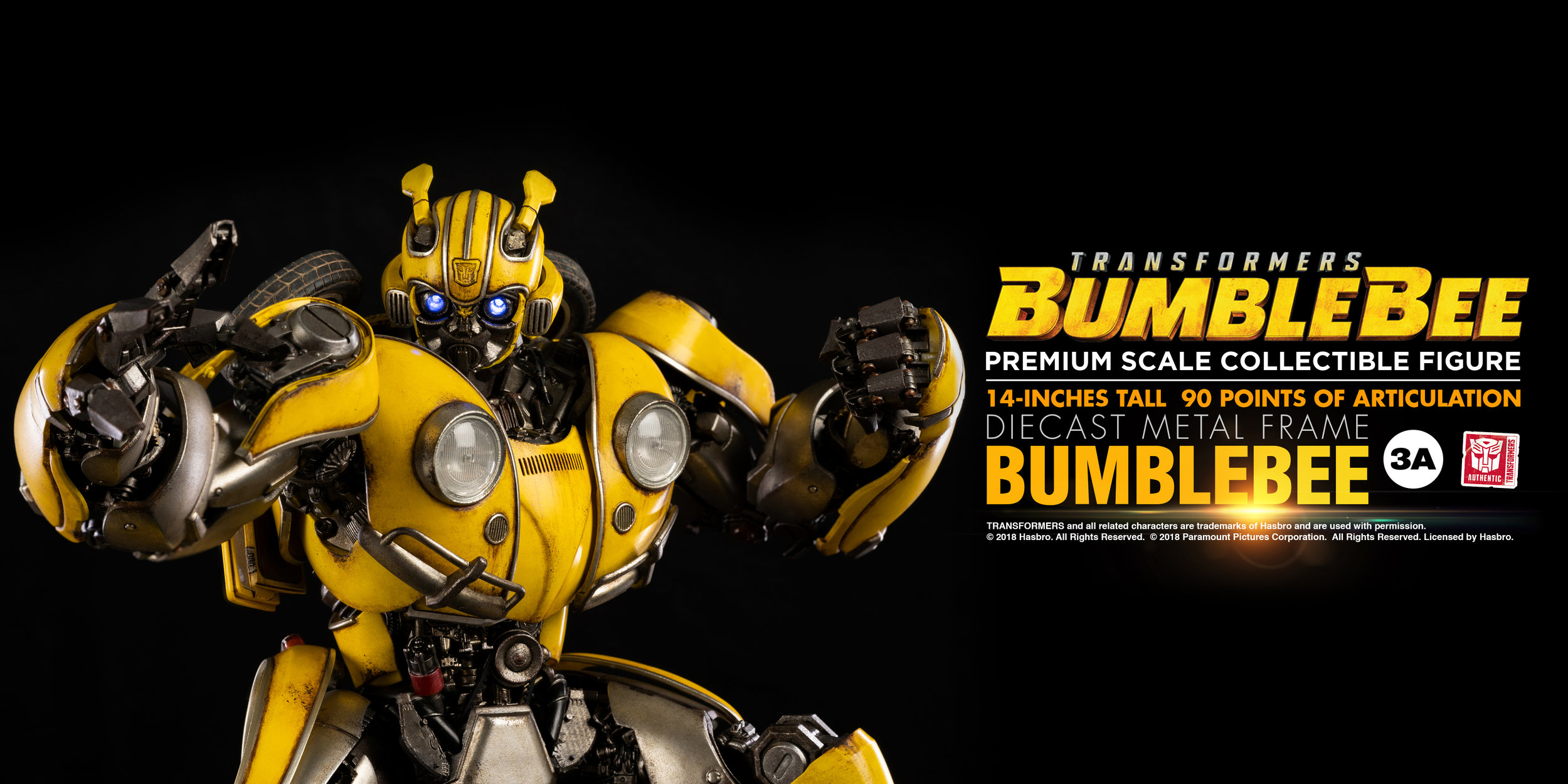BUMBLEBEE - Premium Scale Collectible Figure! 14inches tall, 90 Points of Articulation, Diecast Metal Frame! Now available for pre-order at the 3A Store!