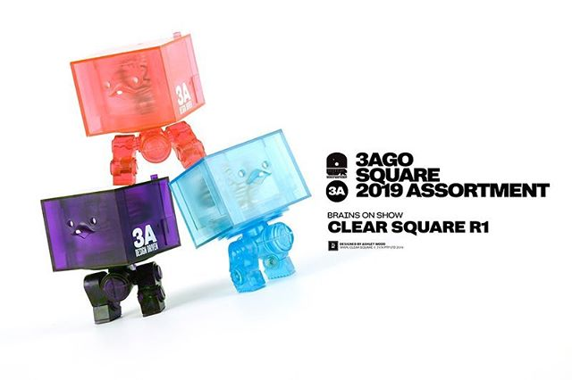 Clear Square R1 Brain Box Set are available at WO3A.com on May 10th!  3AGO Clear Square R1 Set World War Robot Designed by @AshleyWoodArt  Set Includes: - 1x Pink Clear Square R1 - 1x Blue Clear Square R1 - 1x Purple Clear Square R1  Features: - Approx 3 inches tall - 5 points of articulation - Internal Brain Box  USD $99 Price includes Worldwide Shipping via Courier at WO3A.com  #3A #ThreeA #WO3A #Worldof3A #AshleyWood #WWR #WorldWarRobot #Squares #Boom #DesignerToys #Toys #Collectibles #Cute #Brains