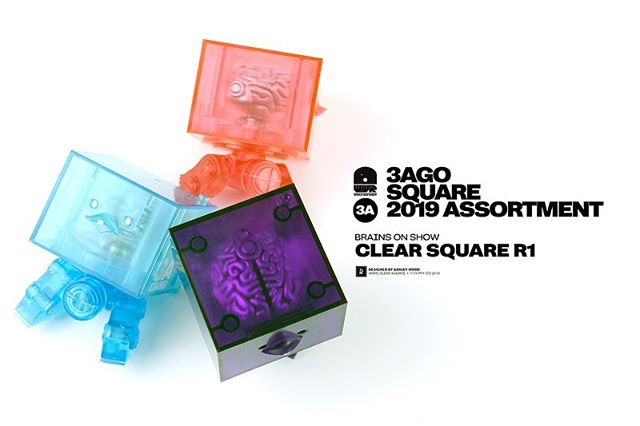 Clear Square R1 Brain Box Set are now available for pre-order at WO3A.com!  3AGO Clear Square R1 Set World War Robot Designed by @AshleyWoodArt  Set Includes: - 1x Pink Clear Square R1 - 1x Blue Clear Square R1 - 1x Purple Clear Square R1  Features: - Approx 3 inches tall - 5 points of articulation - Internal Brain Box  USD $99 Price includes Worldwide Shipping via Courier at WO3A.com  #3A #ThreeA #WO3A #Worldof3A #AshleyWood #WWR #WorldWarRobot #Squares #Boom #DesignerToys #Toys #Collectibles #Cute #Brains  Price includes Worldwide Shipping via Courier 
