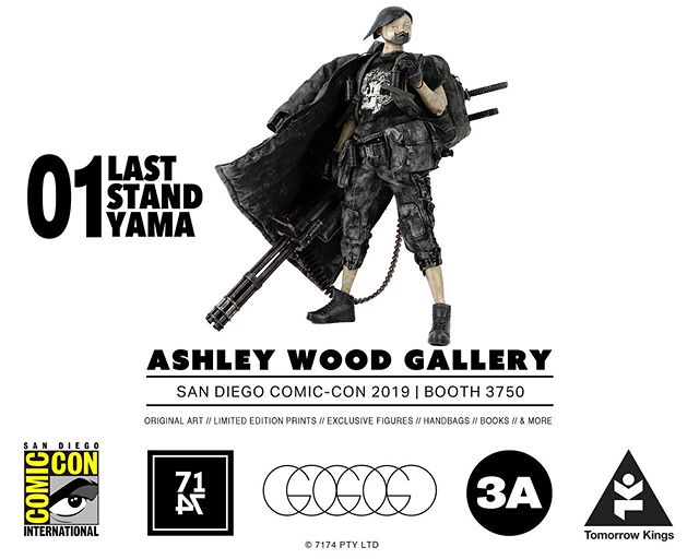 #SDCC! 3A will be at the Ashley Wood Gallery Booth 3750! Exclusive Figures including the very last Fang Gals, Show Edition Ultra TKs, and a small supply of Stock Figures will be available for sale at the booth. More details soon.  @AshleyWoodArt is bringing a choice selection of Original Art, Limited Edition Prints, and Exclusive FAW Pelican books. Ash will be in attendance Weds and Thursday.  @WorldofGoGoGo will also have a limited stock of Purses, Pet Star Clutches, LP Bags, and Patches!  #SDCC2019 #AshleyWood #AshleyWoodGallery #Booth3750 #SanDiego #ComicCon #FangGals #TomorrowKings #GoGoGo #DevilySiu #worldof3A #ThreeA #3A #WorldofGoGoGo #Adventure #DesignerToys #Toys #7174publishing