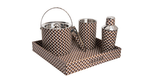 :: Kim Seybert's  picnic set/beverage tray  ::