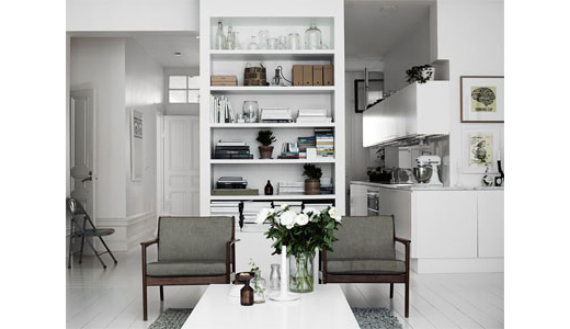 clean & simple room by  stylist lotta agoton