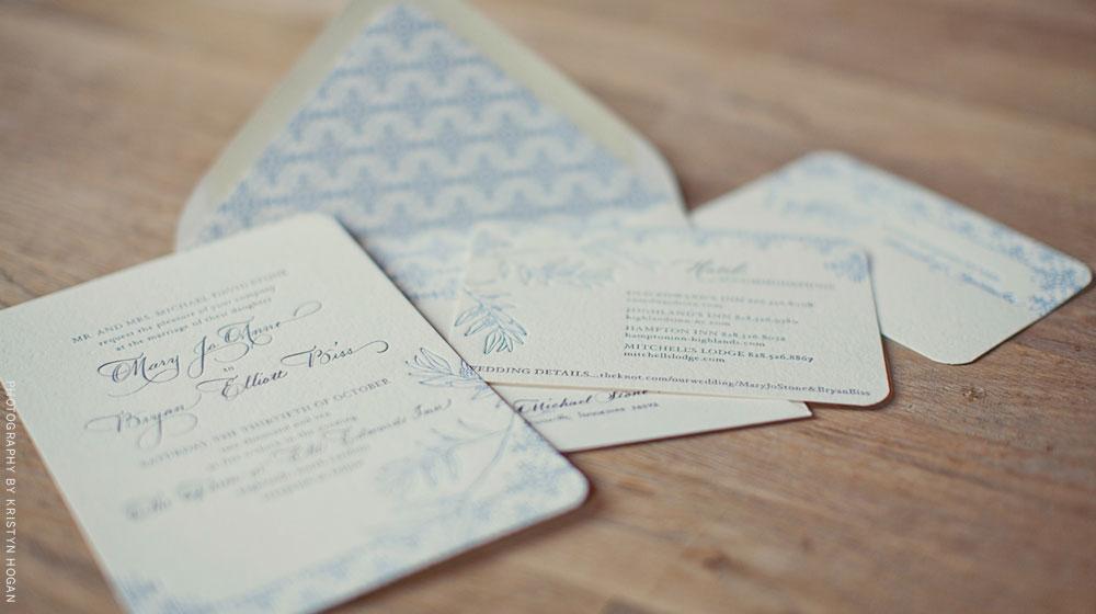 letterpress wedding suite