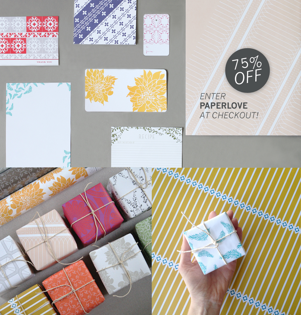 SHOP NOW! 75% off all things paper!