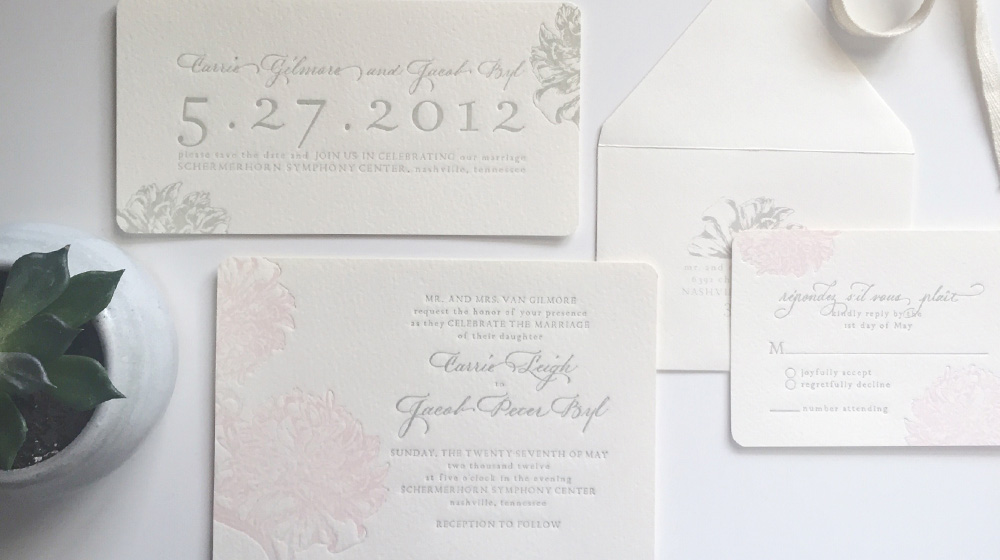 letterpress Save the Date + Wedding Suite