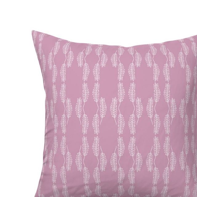 "Soft hues + organic lines. Hoja pillow in lilac. Available 18"" square or 24"" x 14"" lumbar. Link in profile."