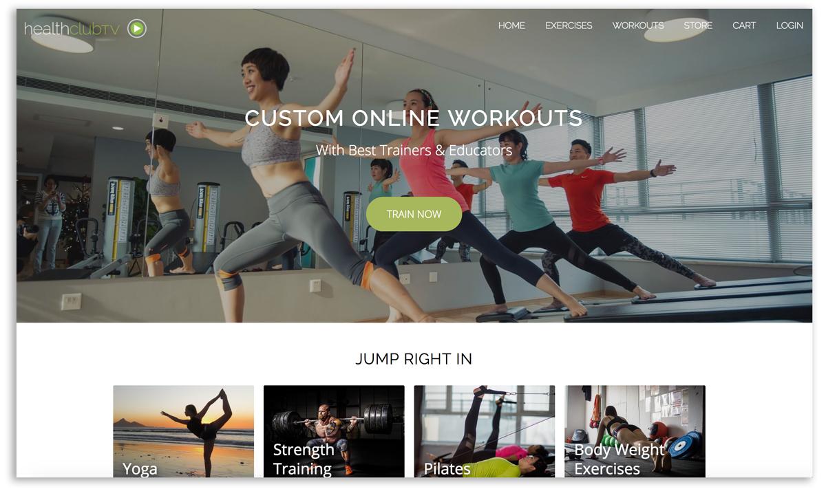 Existing online fitness platform