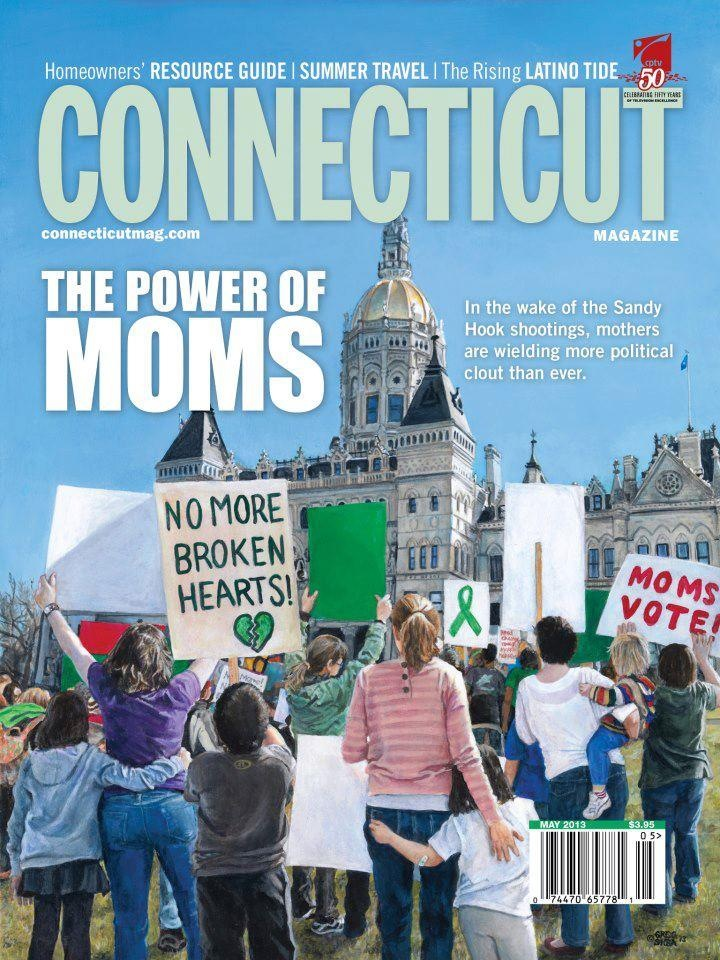 No More Broken Hearts  , as printed on the cover of Connecticut Magazine, May 2013 issue.