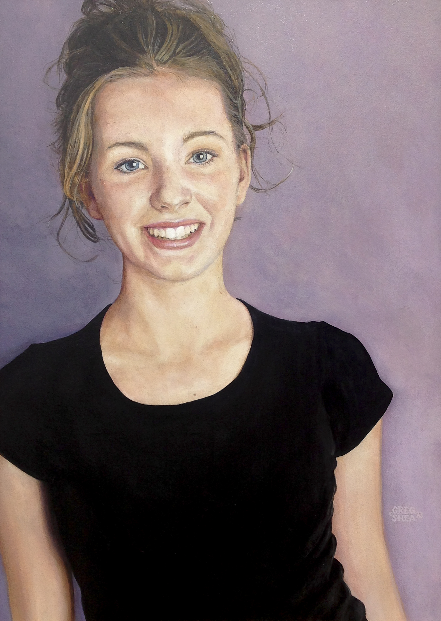 Katie (detail)  , Commission, 2013. Acrylic on board. Private collection.