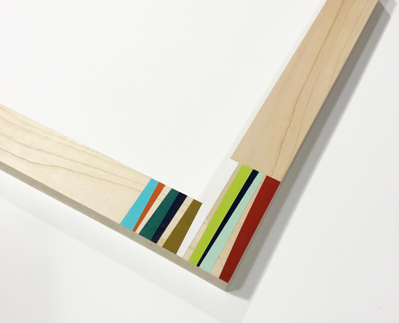 "CB2  1.5"" maple with color corner"