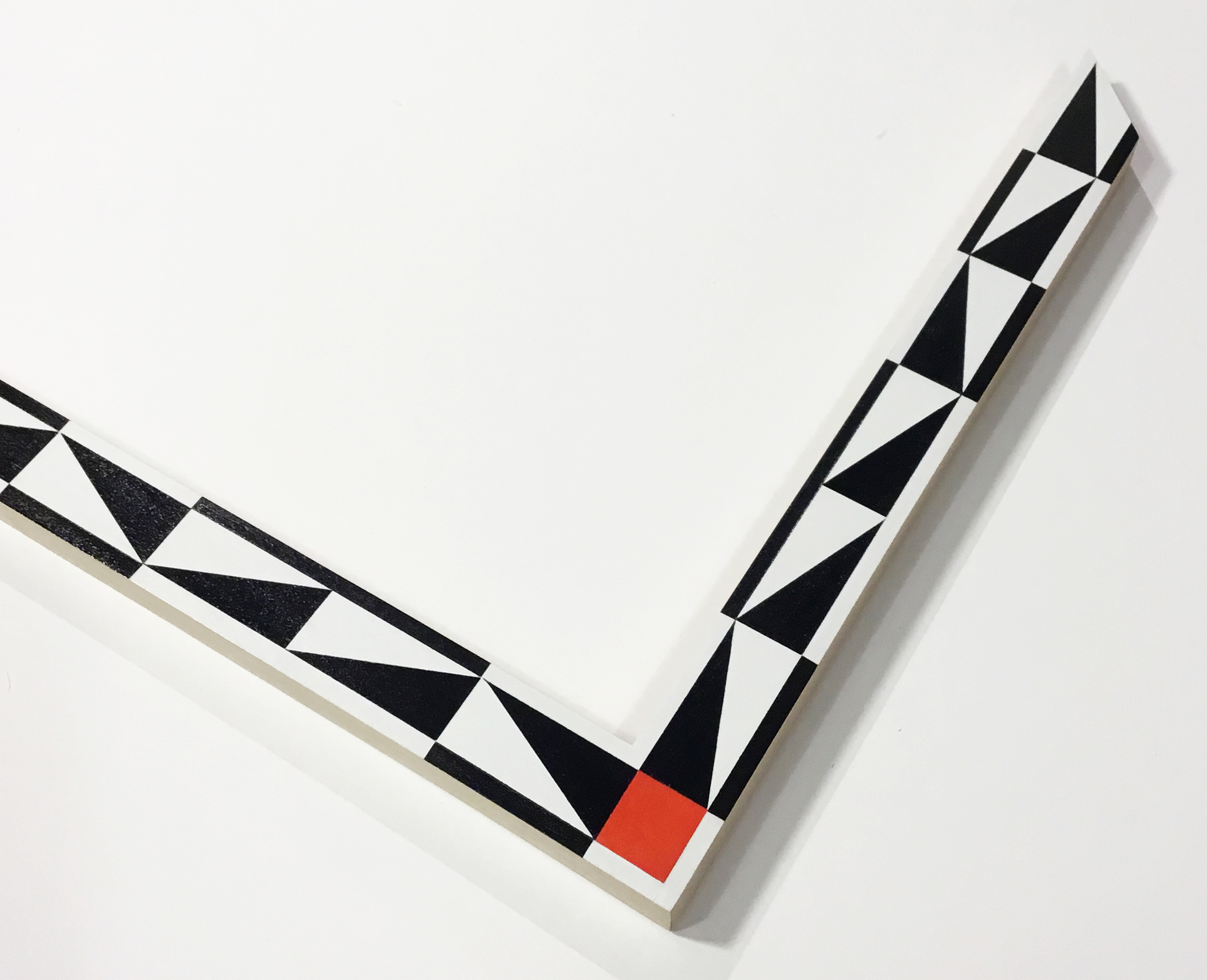 """TOO CLOSE TO SERIOUS  TCTS2 1.5"""" white and black with color corner"""