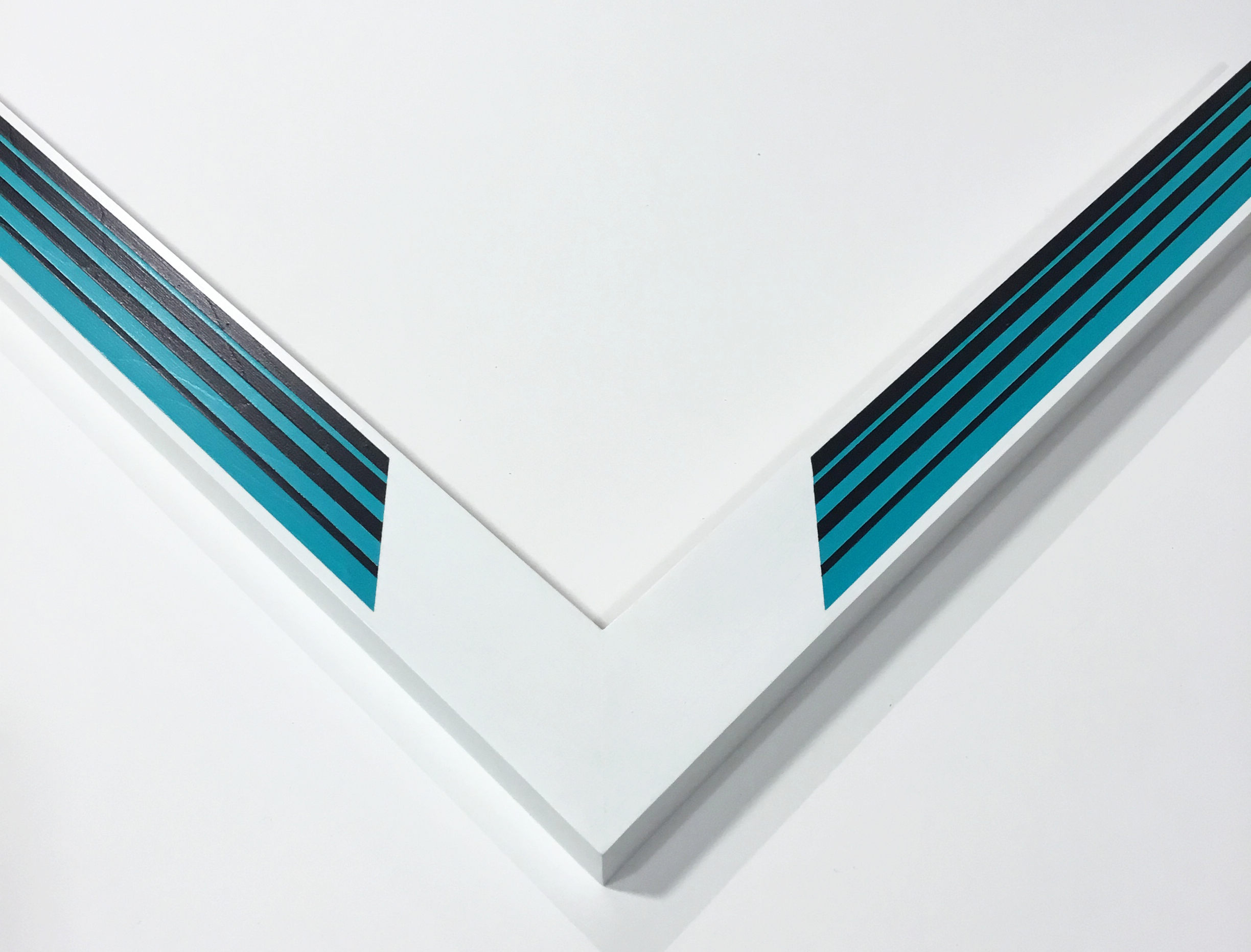 """SUPER 1  1.5"""" white with turquoise and black"""
