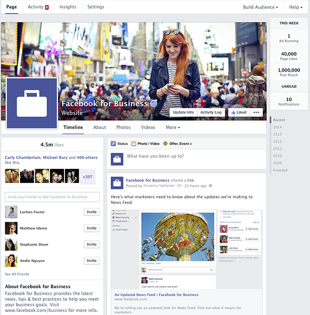 Facebook's red-headed cover model has become an iconic image this week amongst marketers abuzz about the latest changes.