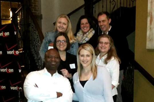 Our new board members at The Precinct, Wednesday, January 21st, 2015. Top row: Bethany Prange, Rebecca Dohrman and Gary Pierson; Middle row: Ashlyn Brewer and Jill Hampton; Bottom row: Vernon Ross and Erin Moloney