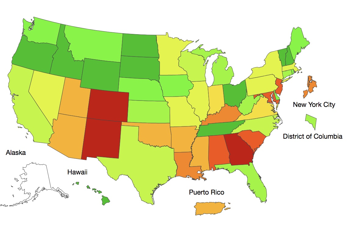 Flu Activity Increasing - Check out the latest CDC national map.