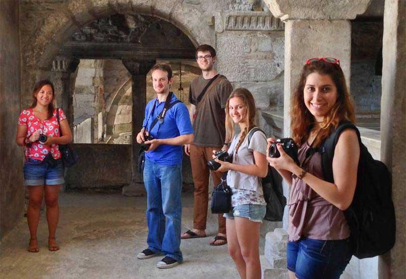 Inside the Church of 100 Doors, Paros