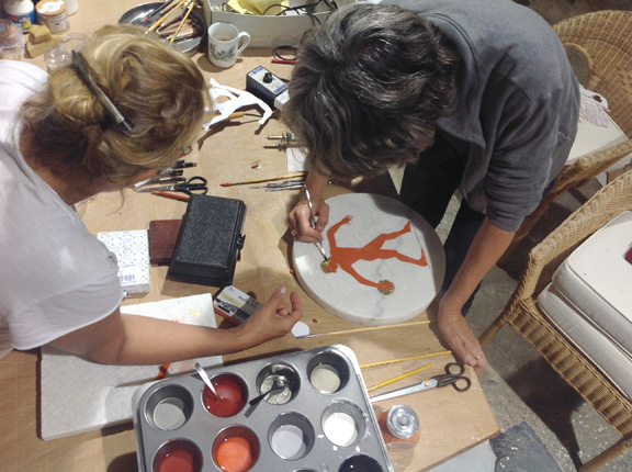 Painting with Encaustic