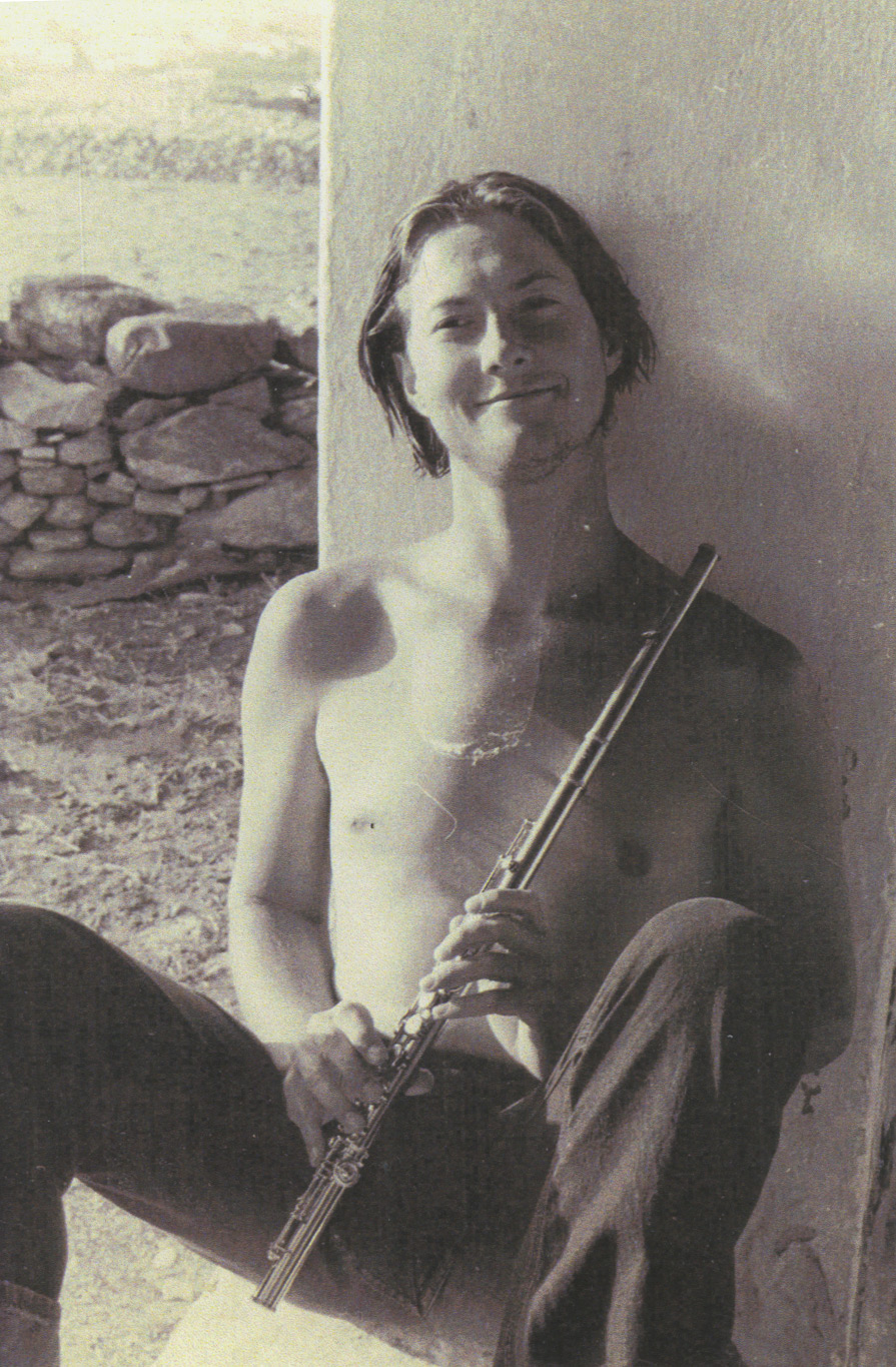 Robert Stallman in 1969, music teacher at the Aegean School and founder of the Paros Chamber Ensemble.
