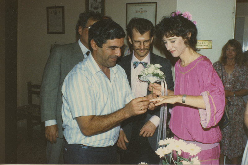 The wedding of John and Jane in 1989.