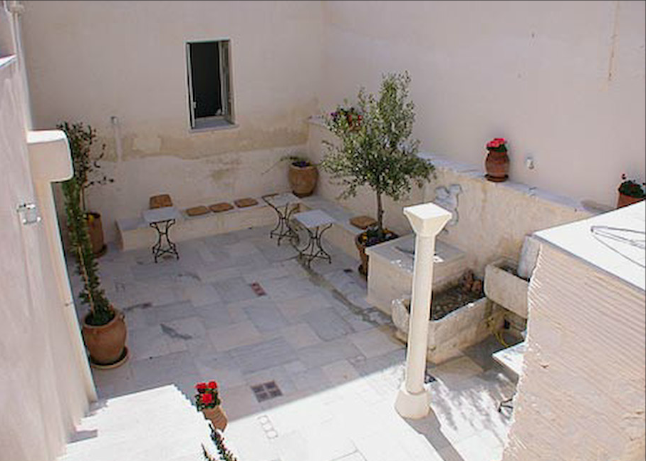 The courtyard after the restoration