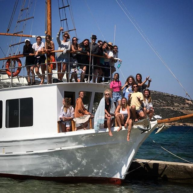"""As you set out on your journey to Ithaca pray that your journey be a long one, filled with adventure,filled with discovery.""-Cavafy.  Wishing a good onward journey to all our students.  #aegeancenter #paros #greece #despotiko #studyart #student #boattrip #artschool #archipelago #aegean #boat #islandlife #lifeofadventure #studyabroad #journey #farewell #cavafy #ithaca #poetry"