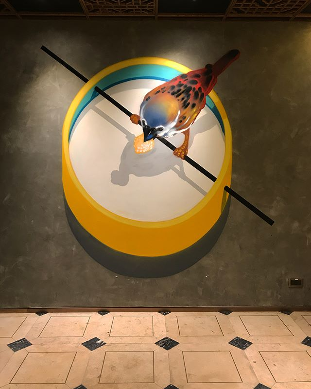 Project @sunsbazaar thanks for invited!!! #mtn94 #montanacolors #colors #bird #chinesefood #food #restaurant #wallart #art #spraypaint #hk #hongkongart
