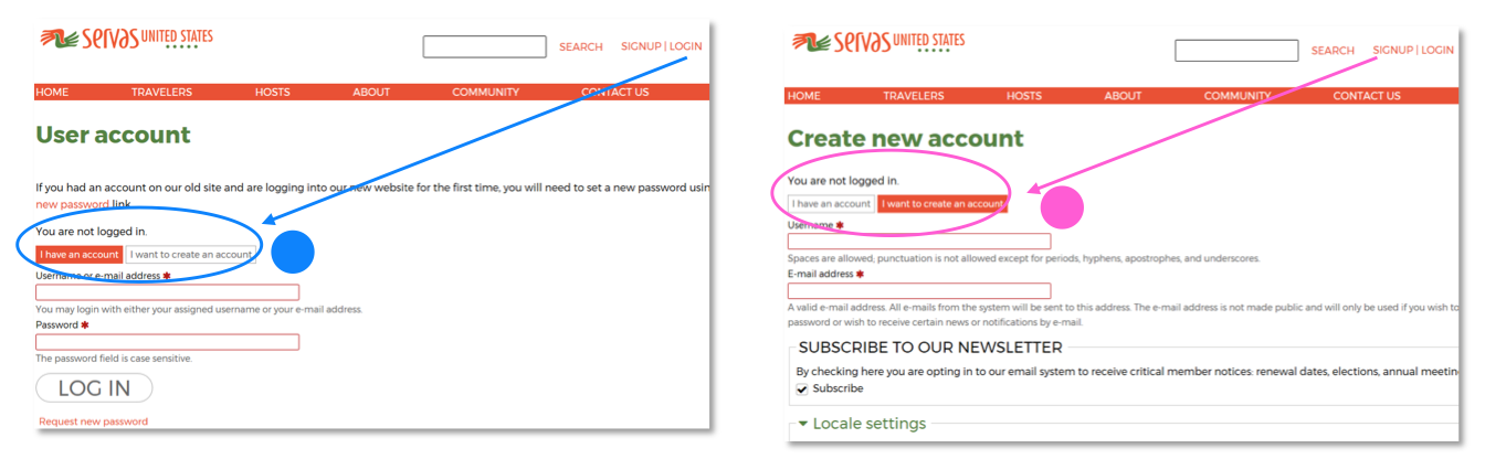 """Users felt confused about the toggle switch between """"I have an account"""" and """"I want to create an account"""""""