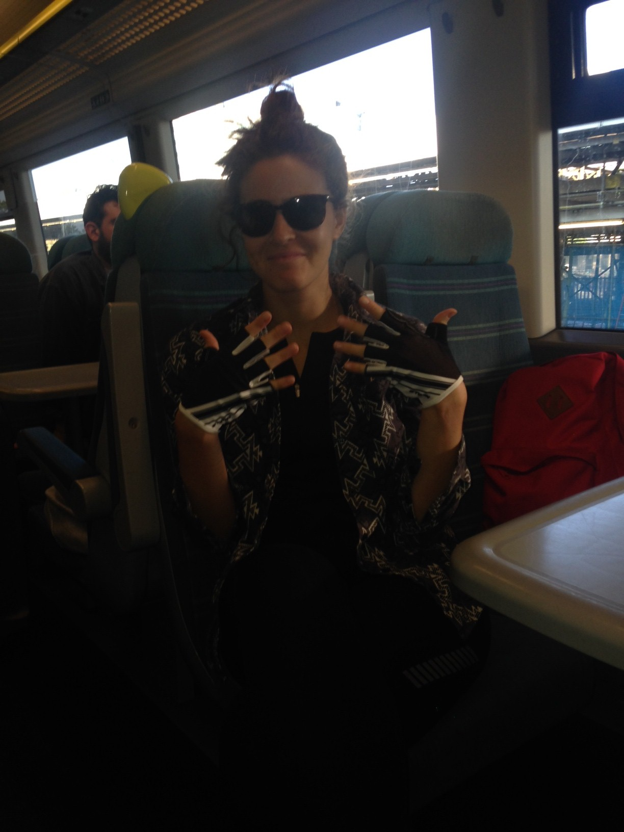 Natasha Whewell on the train to Kent