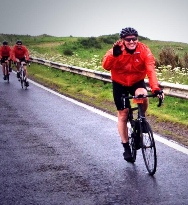 The riders in action on Day One, All smiles, despite a distinctly grey backdrop - I wonder how long they will last?!