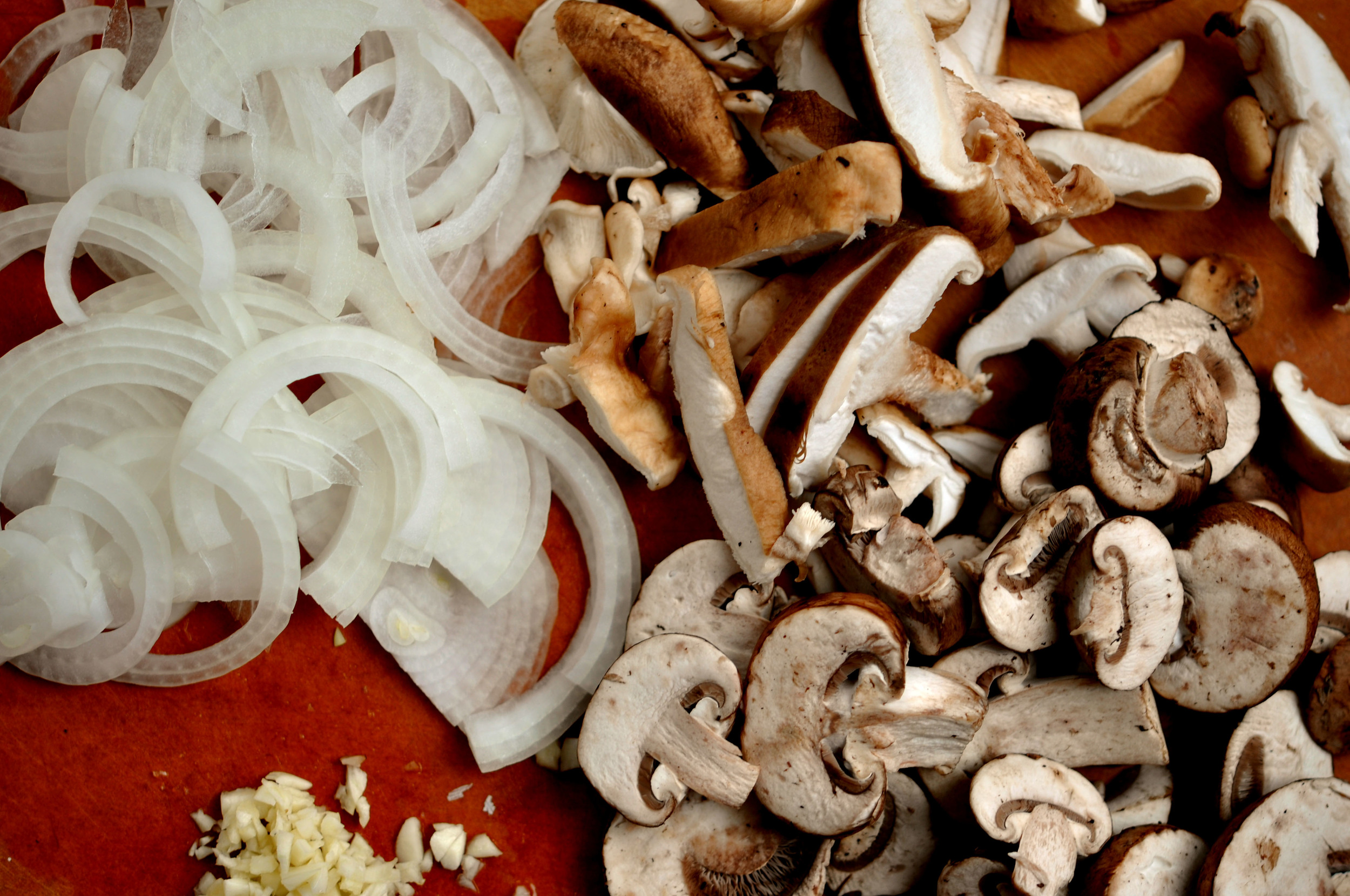 Mushrooms, Onions, & Garlic | Shiny Happy Bright