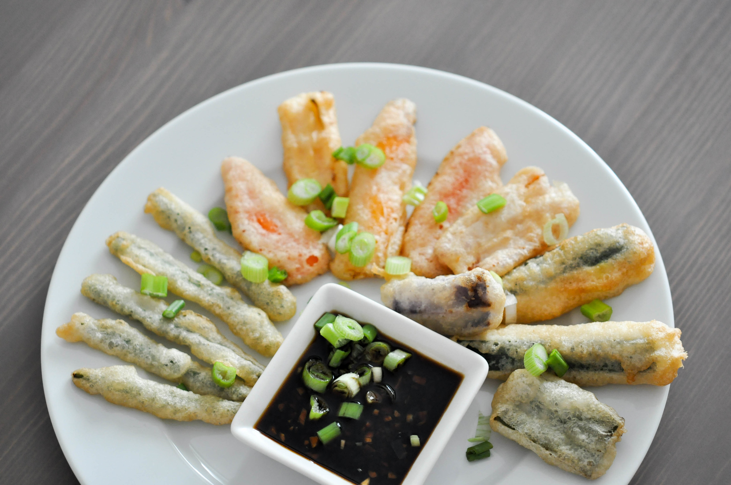 Tempura Vegetables Recipe with a Ginger Soy Sauce   Shiny Happy Bright