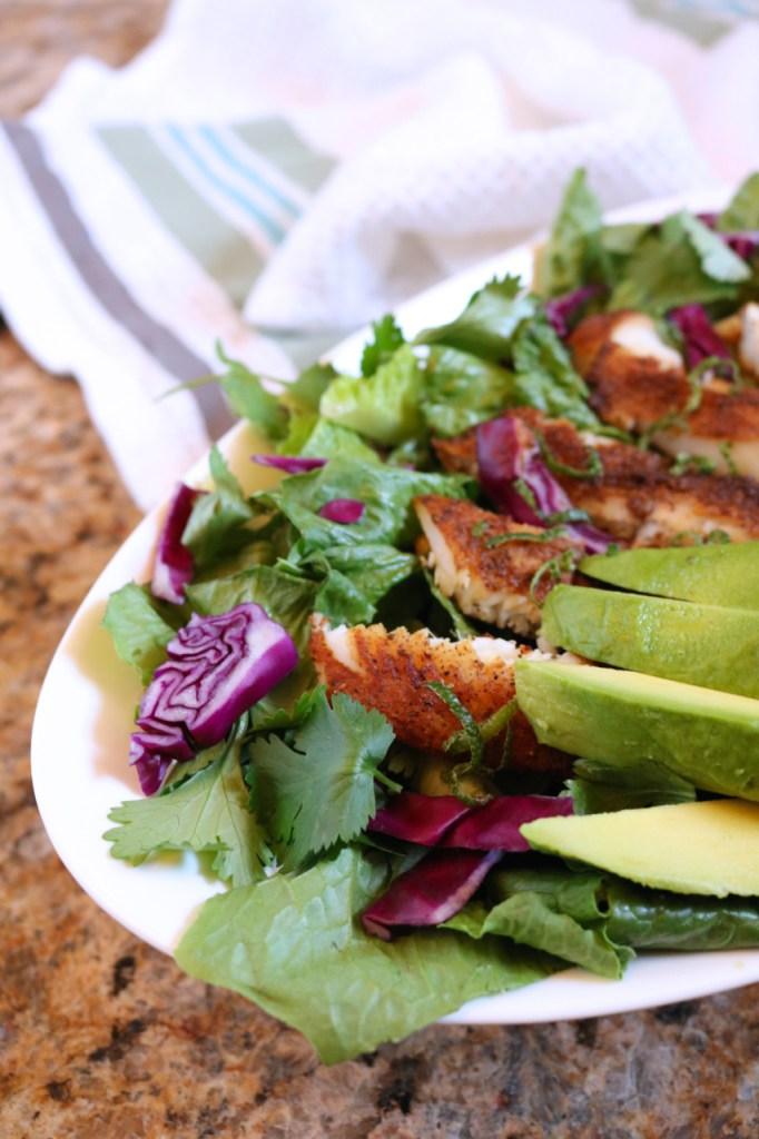 Blackened Tilapia Salad from Eat Something Delicious. Get the recipe here. - This tilapia salad really hits the spot!
