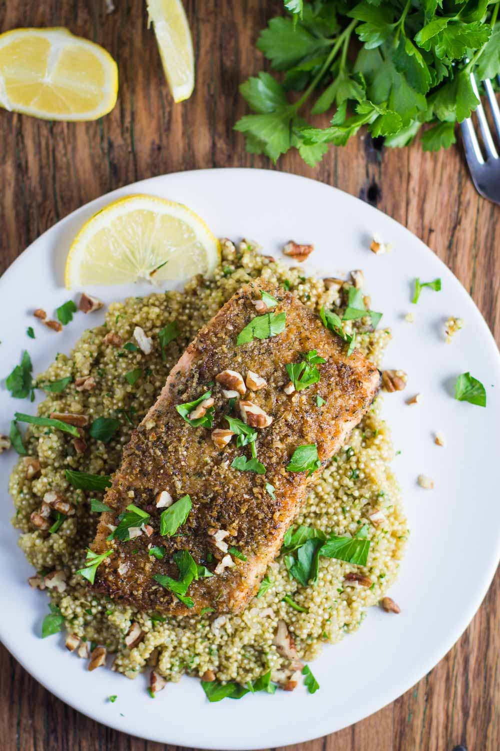 Pecan Crusted Salmon from B. Britnell. Get the recipe here. - The combination of pecans and salmon is truly delightful.
