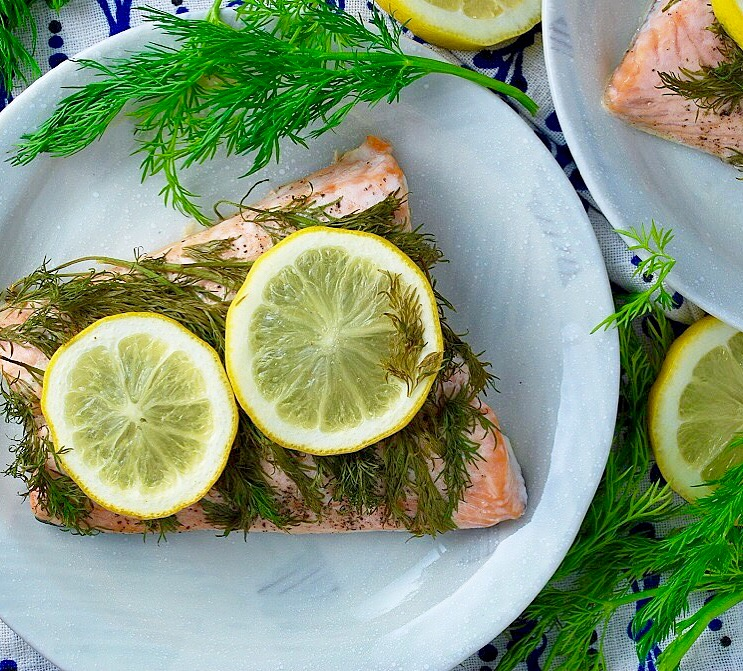 Baked Lemon Dill Salmon from Ahu Eats. Get the recipe here. - The classic dill and salmon flavor pairing does not disappoint.