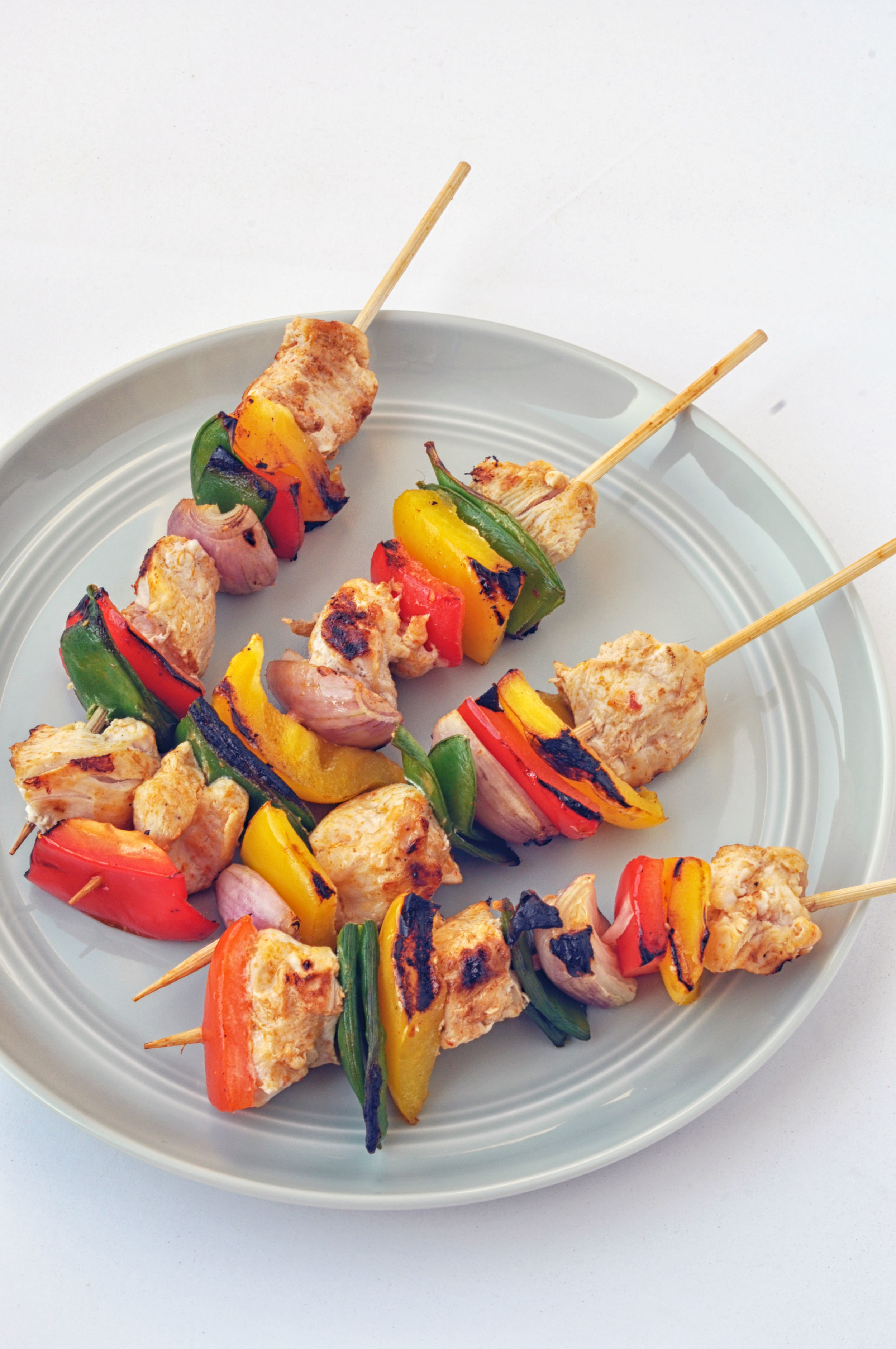 Thai Red Curry Chicken Skewers (healthy + easy + gluten free)| Shiny Happy Bright