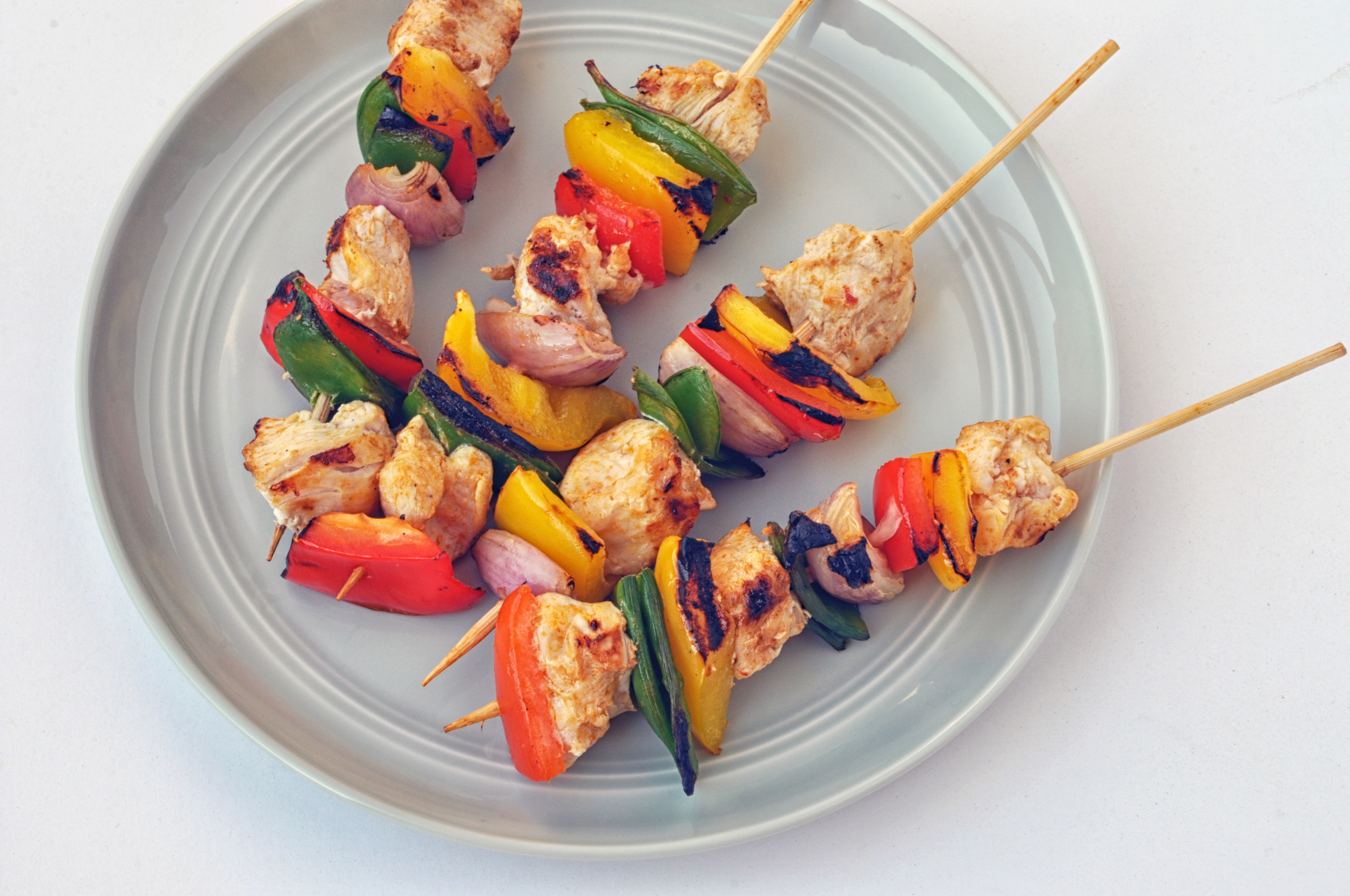 Thai Red Curry Chicken Skewers | Shiny Happy Bright