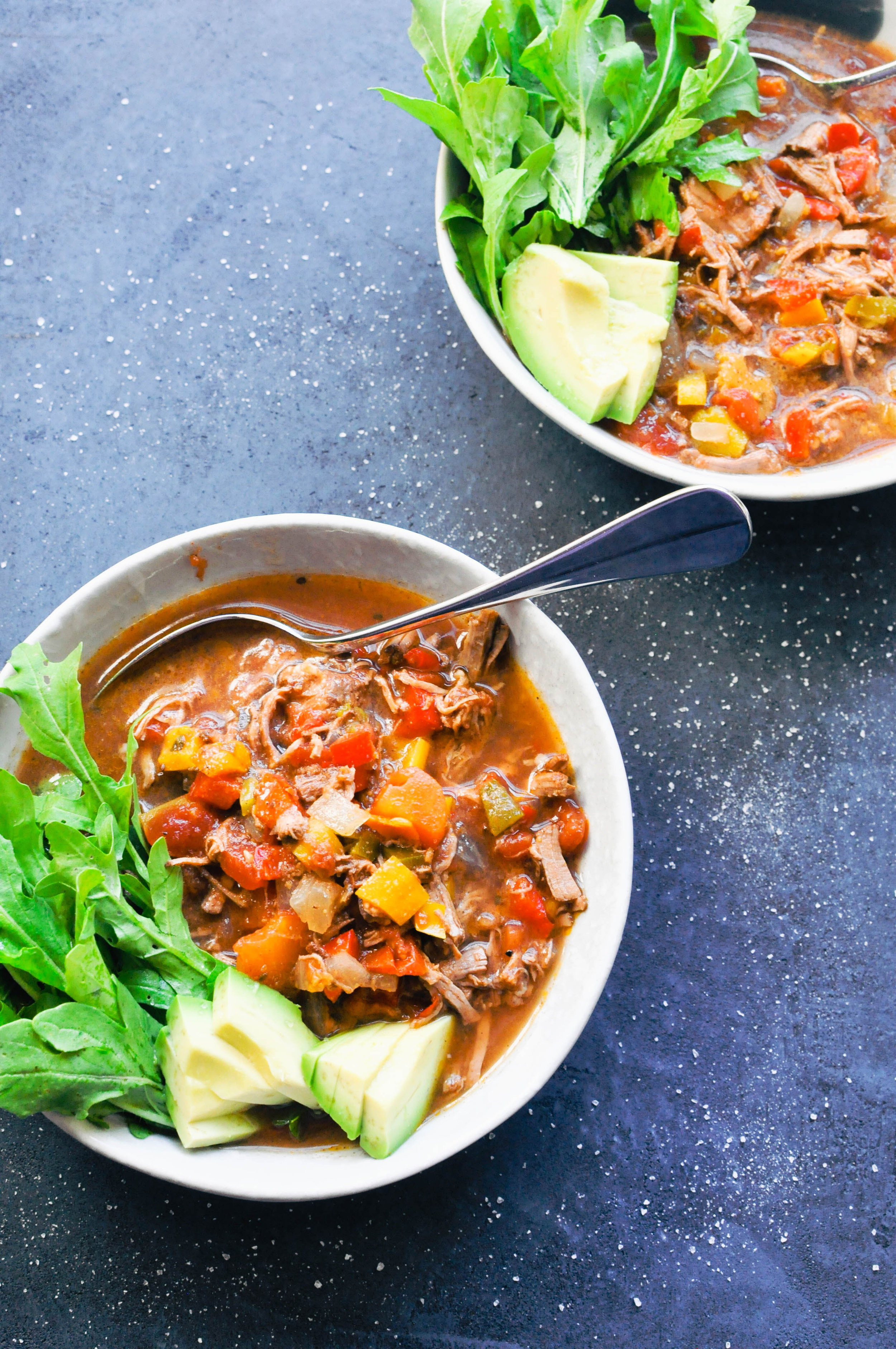 Slow Cooker Brisket Chili Recipe | This Healthy Table