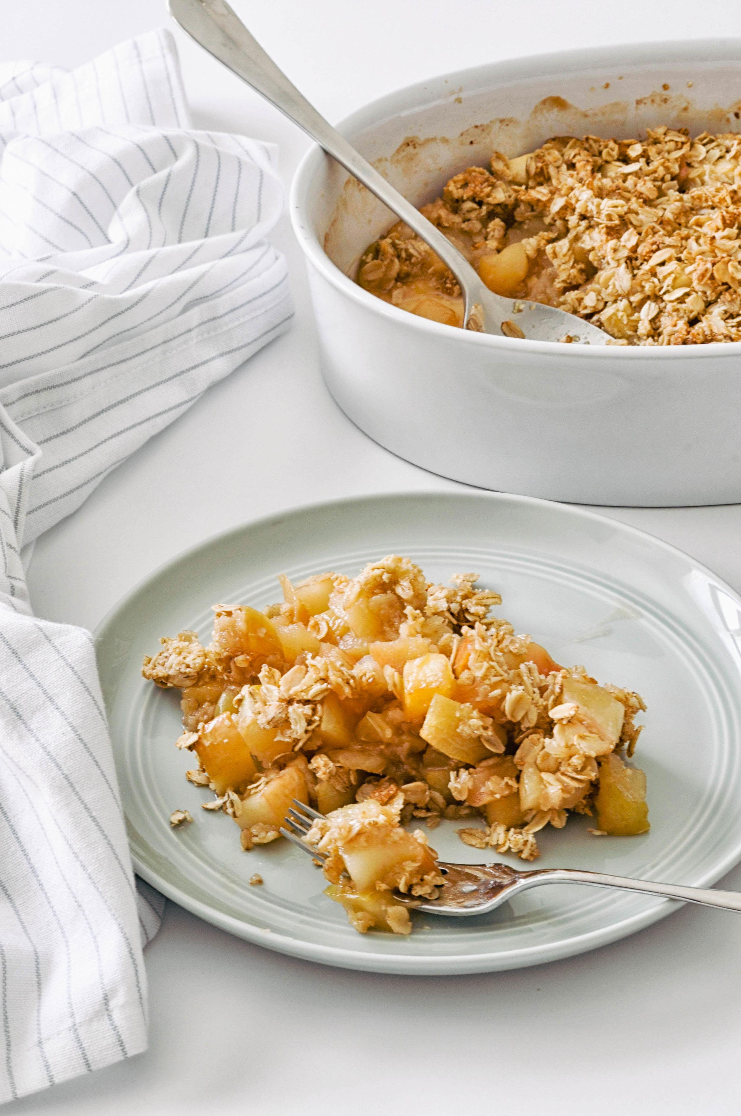 Caramelized Apple Crisp - a delicious autumn dessert | This Healthy Table