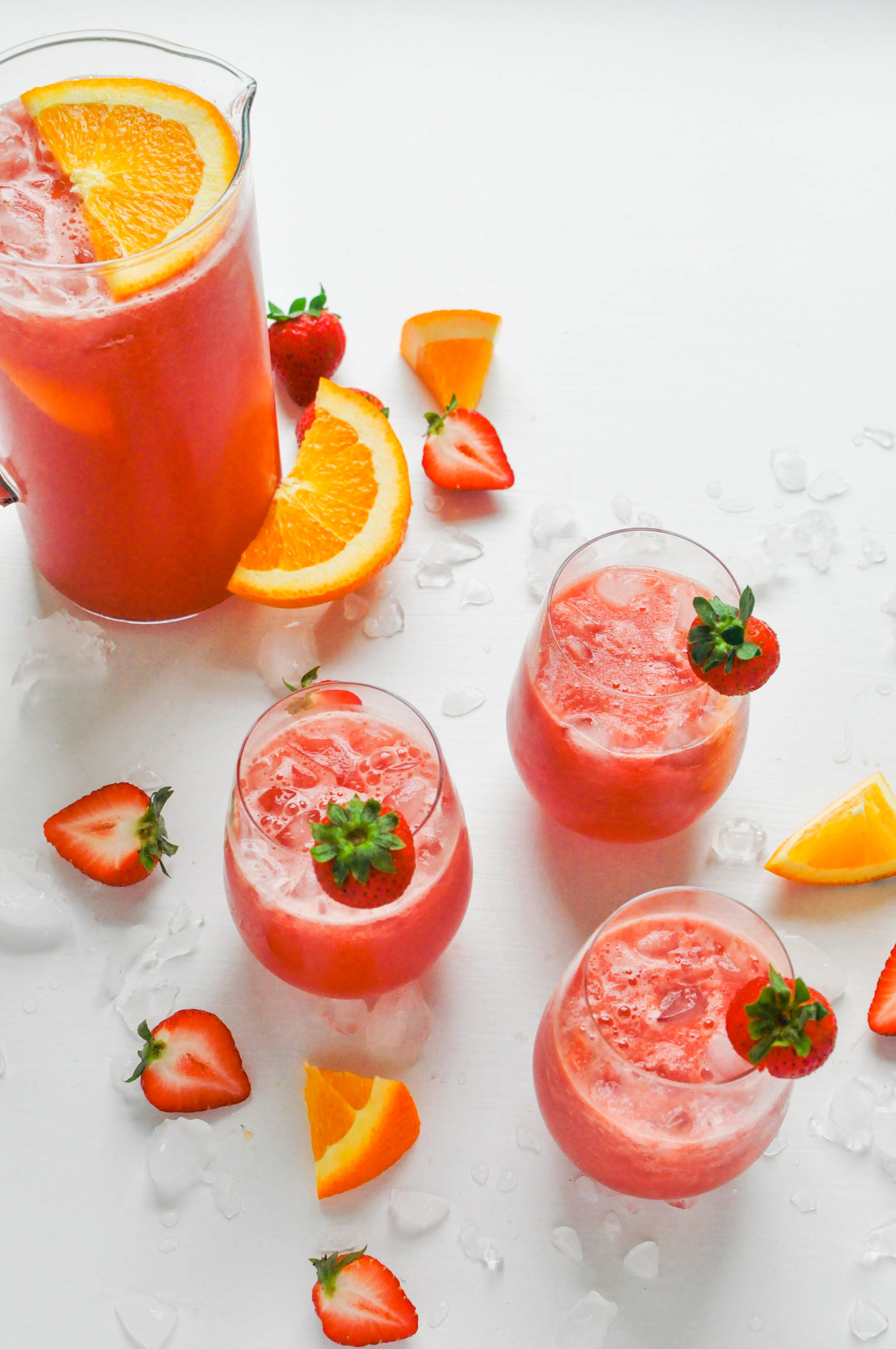 Watermelon Strawberry Sangria Recipe | This Healthy Table